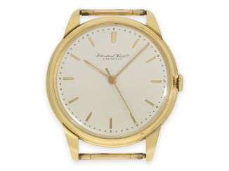 Watch: large yellow gold IWC men's watch with center second, approx. 1951