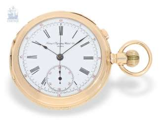 Pocket watch: complex Geneva pocket watch with 5 minute-Repetition and Chronograph, made for the American market, Timing & Repeating Watch co, Geneva, circa 1910