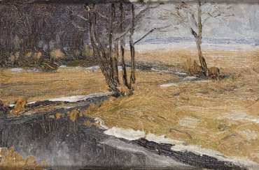 Monogrammist: landscape in early spring