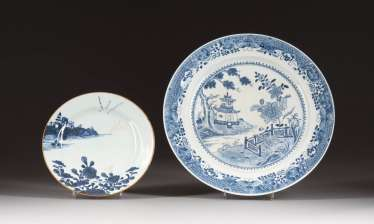 TWO BOWLS WITH LANDSCAPE DECORATION