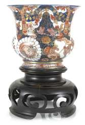 Large porcelain spittoon made of porcelain with Imari decor