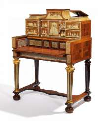 Important Baroque writing Cabinet with Chinoiserien, so-called