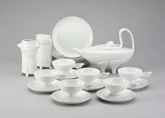 PAUL WUNDERLICH 1927 Eberswalde - 2010 Saint-Pierre-de-Vassols tea set 'LEDA'. German, Rosenthal, 1985