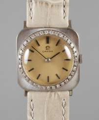 Omega, ladies wristwatch with diamonds