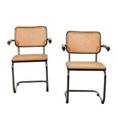 "BREUER, MARCEL (1902-1981) FOR THONET ""Pair of cantilever chairs / Thonet82"","