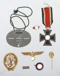 Mixed lot of badges and medals from the Third Reich
