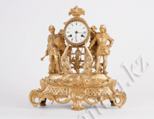 Mantel clock with rare movement.