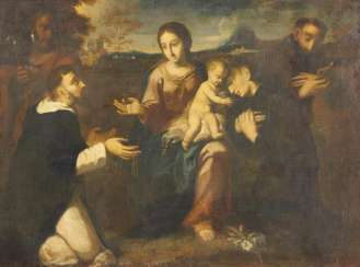Holy Family with friars