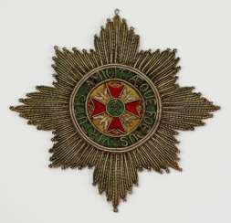 Württemberg: hunting order, breast star of the 2. Execution from 1748.