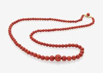 Classic Sardegna coral pearl necklace, Italy, 1930s