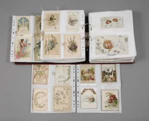 Collection of occasion cards, around 1900