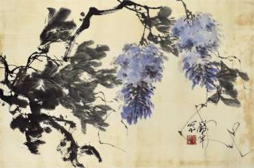 Name Yinzhang: Wisteria, ink on paper