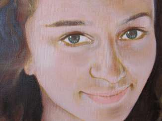 Portrait of a young girl. Oil Portrait Handmade.