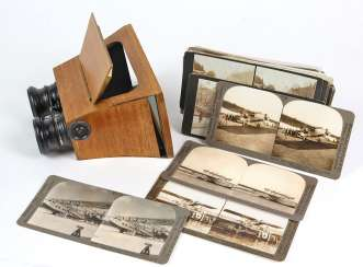 Stereoscope with pictures set