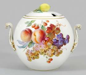 Great cover bowl with fruit decor