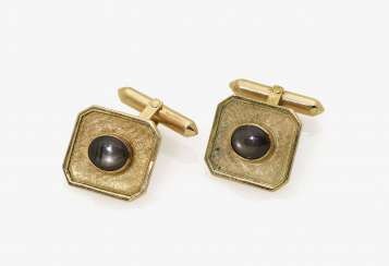 A Pair of cufflinks with sapphires. Germany