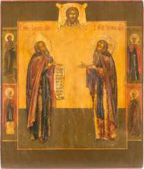 ICON WITH SAINTS ZOSIMA AND SABBATIUS