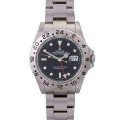 ROLEX Explorer II men's watch, Ref. 16570. Stainless steel.