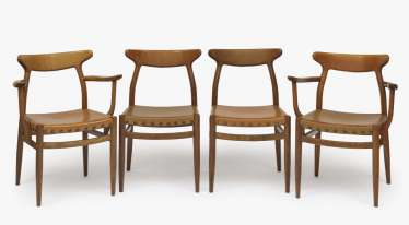 Seven chairs and three armchairs, Scandinavia, 1960s