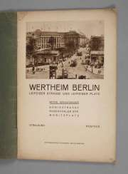 Advertising Booklet Selling The House Of Wertheim In Berlin