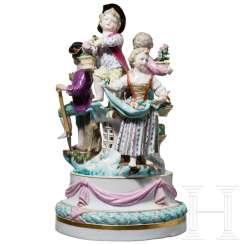 Small surtout de table in the form of a Louis XVI garland with gardeners' children, Meissen, 19th century