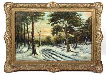 winter sunrise - Hogenboom, C. 1945