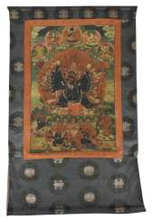 Thangka with depiction of Yamantaka