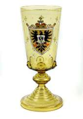 Historicism coat of arms cup around 1880
