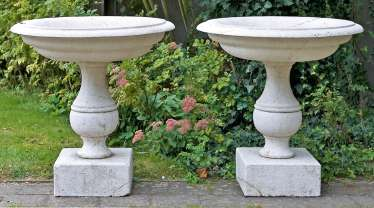 Pair Of Late-Renaissance Baptismal Font