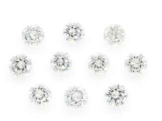 Brilliant: collection of 10 high quality diamonds, top quality, and a total of approx. 2,54 ct