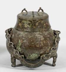 Three-leg-cover vessel from the Han dynasty