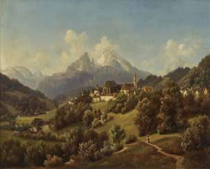 View of Berchtesgaden and the Watzmann