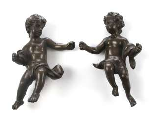 TWO SMALL CHERUBS FIGURINES,