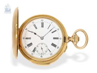 Pocket watch: very fine gold savonnette minute repeater, Breguet No. 2444, sold in 1896, for 1800 Francs to M. Bidault, with a Breguet certificate