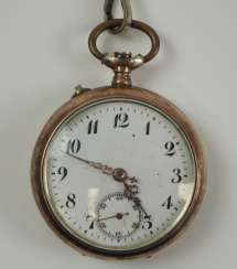 Pocket watch with chain SILVER.
