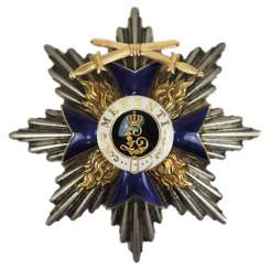 Bavaria: Military-Merit-Order, 1. Class (1905-1918), breast star with swords.