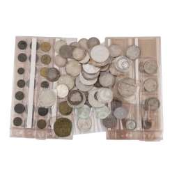 Eclectic collection of coins and medals with SILVER