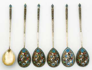 6 spoon with Cloisonne enamel