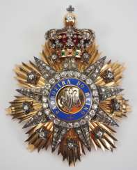 Portugal: Order of Our Lady for the Conception of Villa Vicosa, Grand Cross star in diamonds.