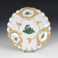 Ceremonial plate with copper green painting, MEISSEN