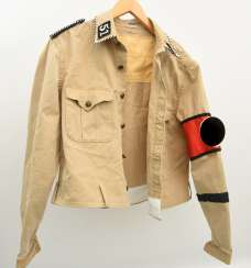 SA JACKET, approx. Size 42, cotton/linen/metal, Third Reich in 1935
