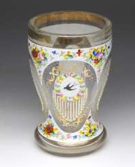 Cup Glass Enamel Mid-19th Century. Century