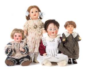 4 dolls approx. 1st half to mid 20th century