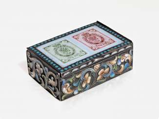 And Silver Is and Cloisonne Enamel Stamp Box