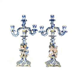 Pair Allegory Chandelier