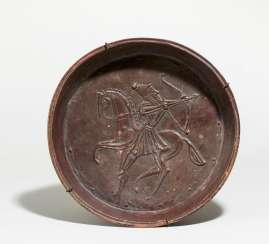 Bowl with riding archer