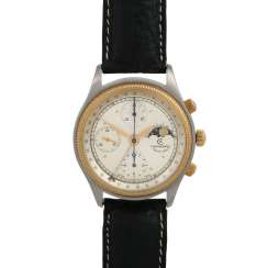 CHRONOSWISS Pacific Chronograph with moon phases, Ref. 7914. Men's watch.