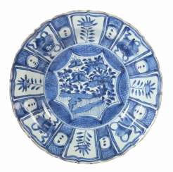 Plate with blue painting China