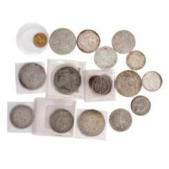 Dt. Empire / Dt. Rich - small group of 19 very different received coins,