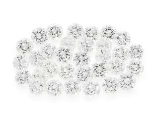 Brilliant: collection of 32 high-quality diamonds of the finest quality, together CA. 4,1 ct